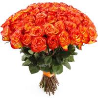 101 оранжевая роза (Эквадор)