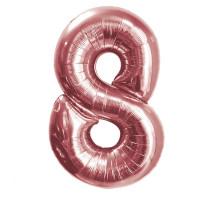 """Шар - Цифра """"8""""  (40""""/102 см)  Цвет: Розовое золото"""