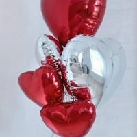 """Шарик (18''/46 см) фольга """"Сердце"""" однотонное с гелием в ассортименте"""
