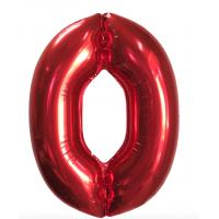 """Шар - Цифра """"0"""" (40""""/102 см)  Цвет: Красный"""