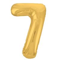 """Шар - Цифра """"7""""  (40""""/102 см)  Цвет: Золото"""