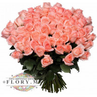 51 нежно-розовая роза (Эквадор)