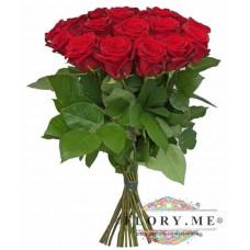 19 подмосковных  бордовых роз