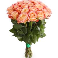 15 бело-коралловых роз (Эквадор)