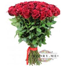 25  длинных бордовых роз (Эквадор) 90 СМ