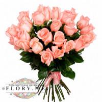 25 нежно-розовых роз (Эквадор)