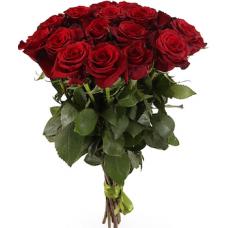 25 бордовых роз  (Эквадор)