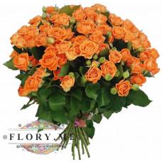 """Букет из кустовых роз """"Апельсинка"""""""