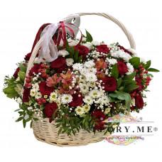 Большая корзина цветов №1